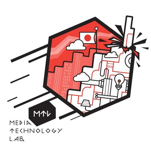Media Technology Lab t-shirt design