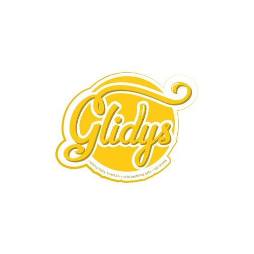 "logo with the name ""Glidys"" with example provided."