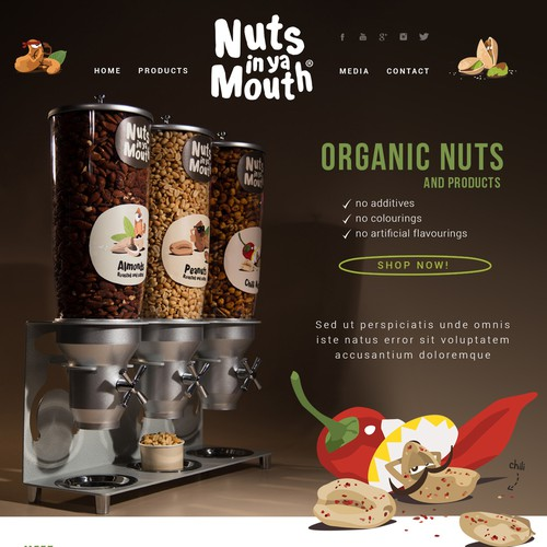Web design for dietary products