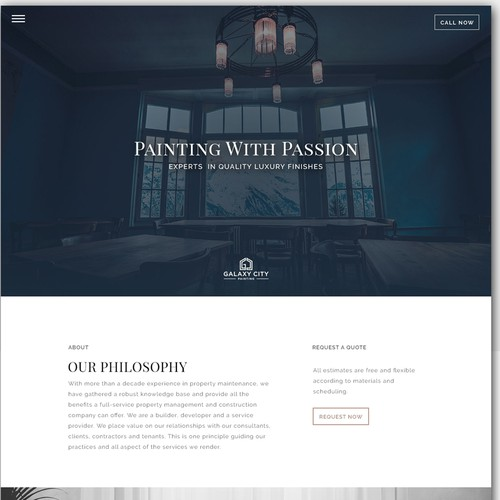 Website for Paint Company