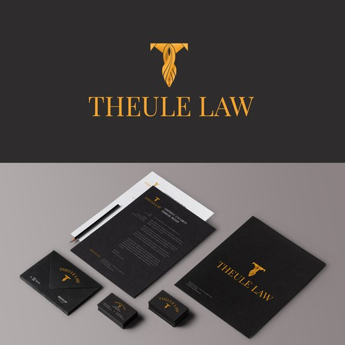 Theule law Logo Design