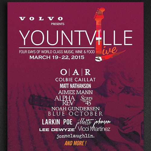 Create event signage and materials for Yountville Live