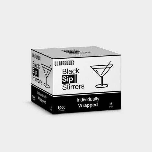 black sip stirrers