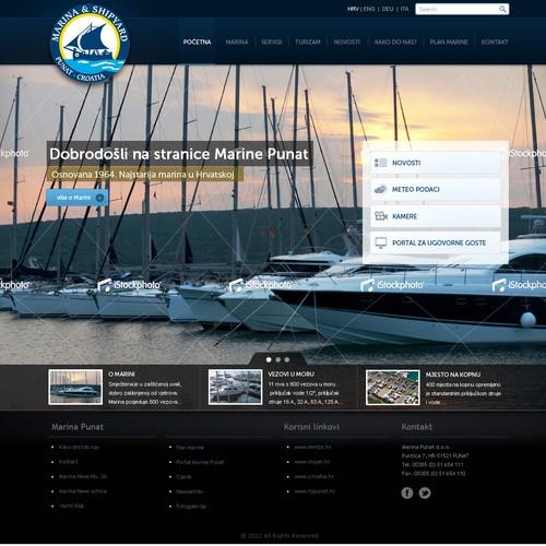 website design for Marina Punat