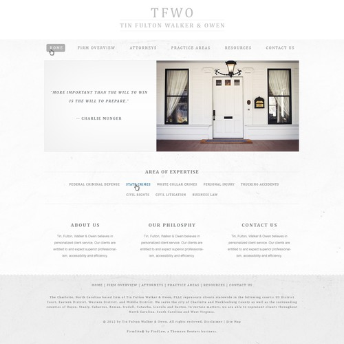 Create the next website design for Tin Fulton Walker & Owen