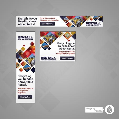 Banner Ad Set for Rental Management Magazine