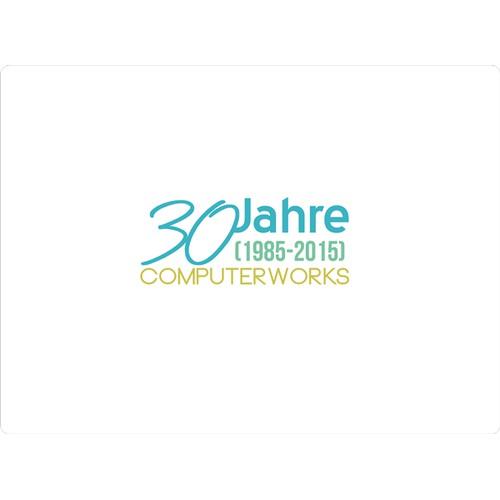 """Jubiläums-Logo """"30 Jahre ComputerWorks"""""""