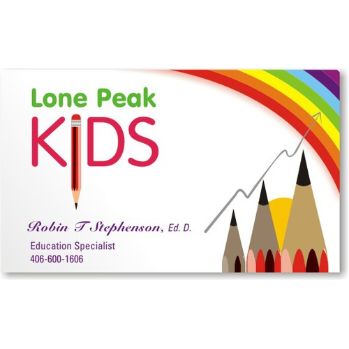 Visiting card Design for Kids Education Specialist