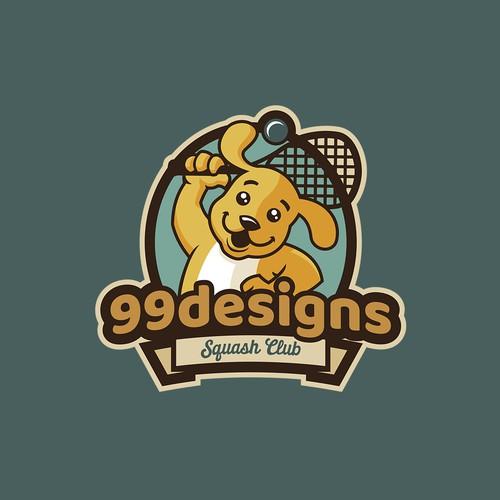 Logo design for 99d squash team