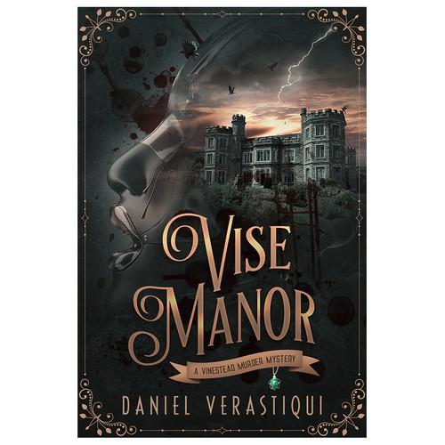 Vise Manor - Cyberpunk Murder Mystery Novel Cover Design