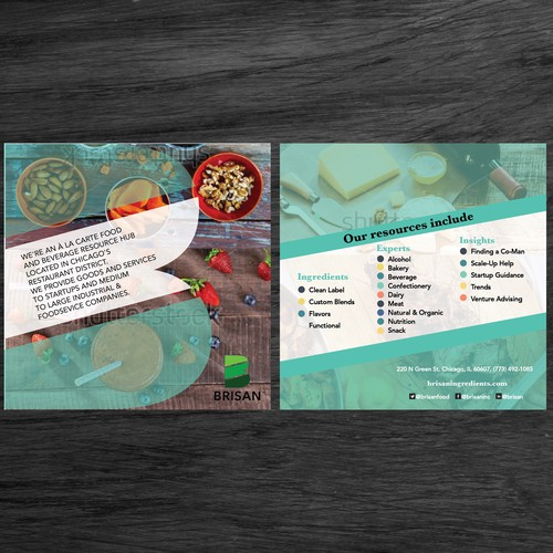 Funky Food & Beverage Company Flyer