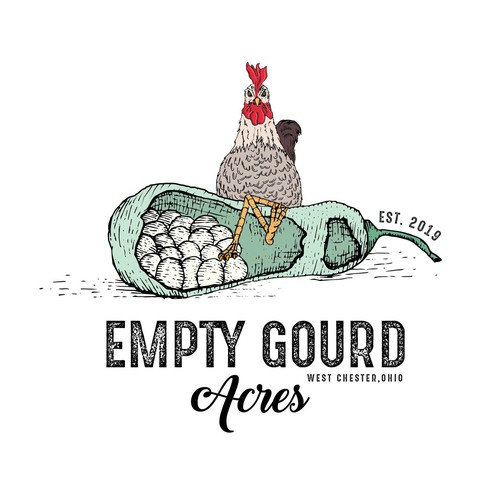 Hand drawn agriculture logo
