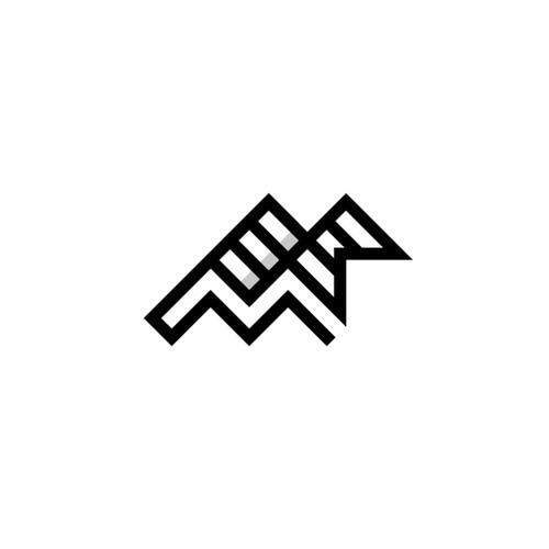 Letter M Flag Logo