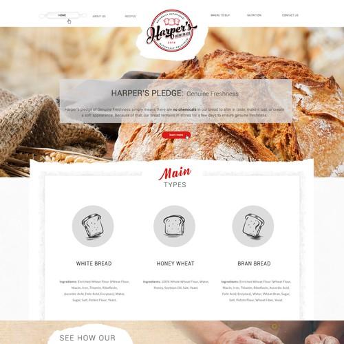 Web Design for bread company