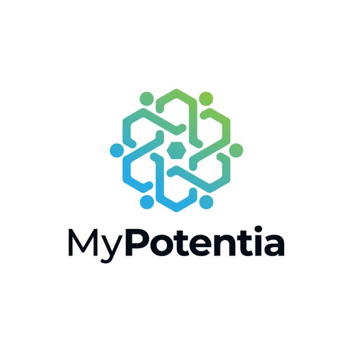 Geometric logo for MyPotentia