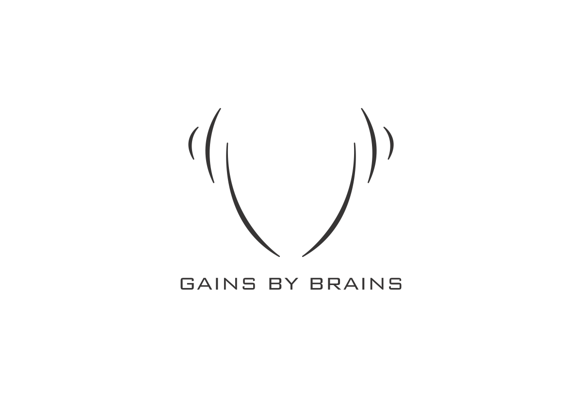 Gains by Brains - logo & social media design