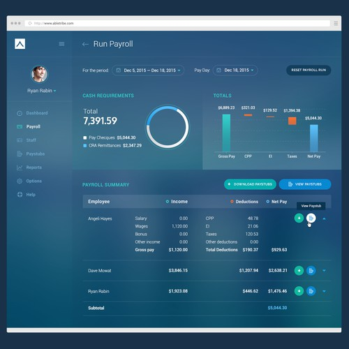 Design a beautiful financial app to help people understand their pay