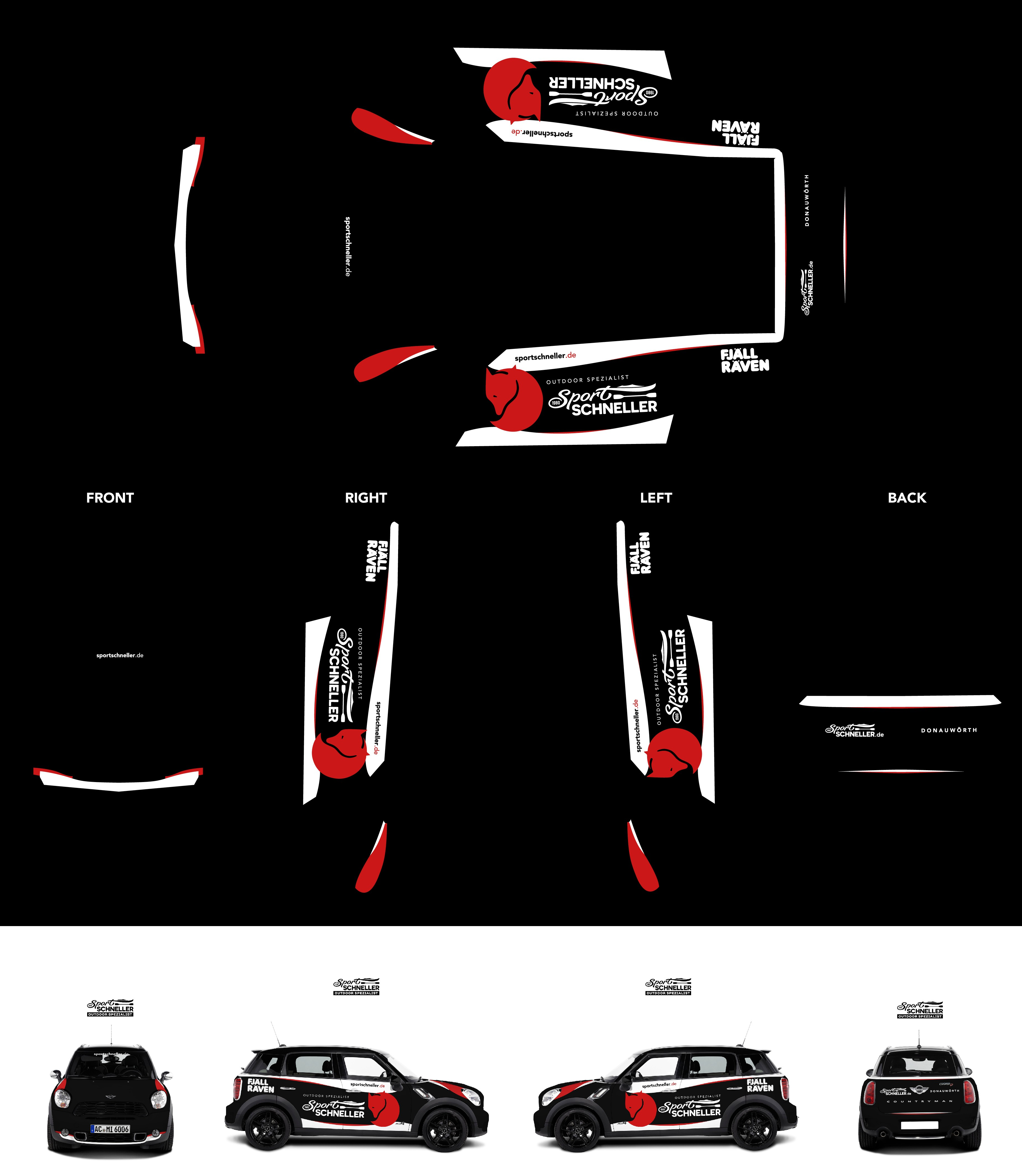 Mini Countryman design for our high end Outdoor & Fashion Store