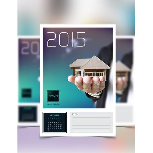 Smart Calendar Postcard for Brooklyn NY Real Estate Agent