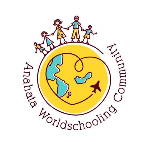 logo design for world schooling community