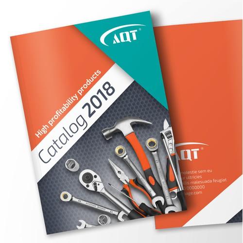 Modern product catalog design for AQT