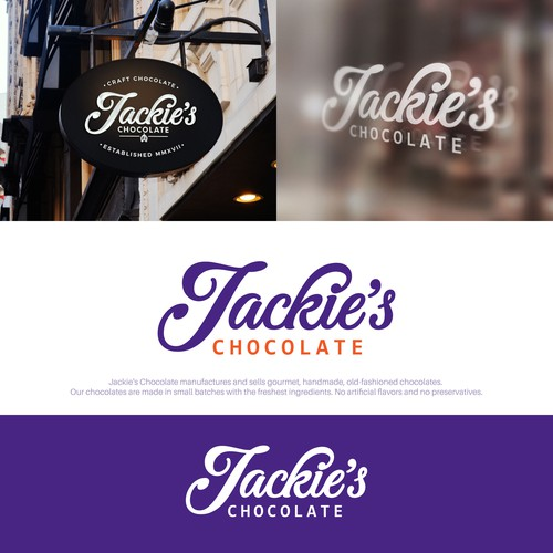 Logotype for Jackie's Chocolate.