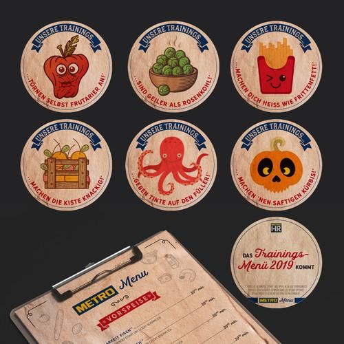 Sticker-Design: METRO