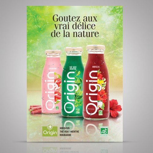 Posters for New European Brand of organic soft drinks