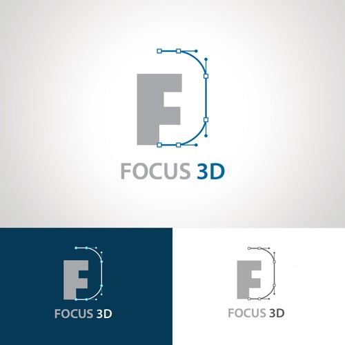logo focus 3d