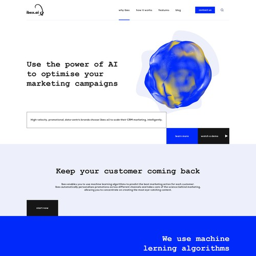 UI / UX Design for AI Based company.
