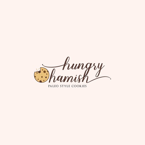 Logo design concept for paleo cookies business