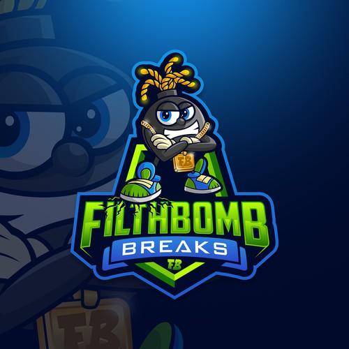 Mascot logo for Filthbomb Breaks