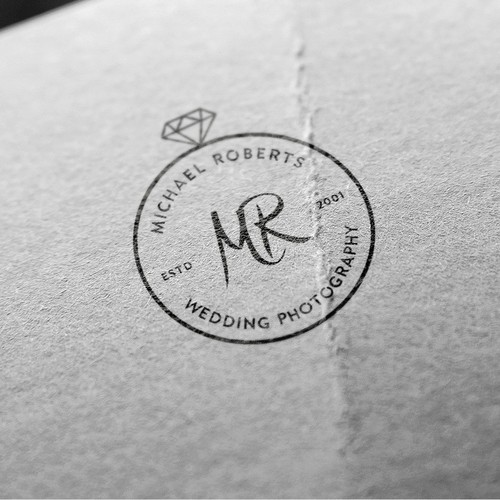 Wedding photographer logo concept