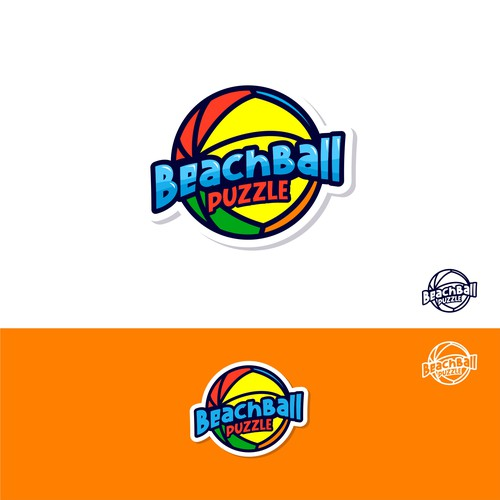 "logo for puzzle game ""Beach Ball Puzzle"""