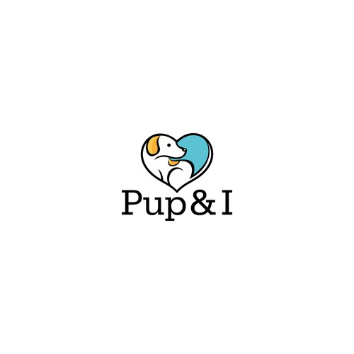 Creative and simple logo for pup & i
