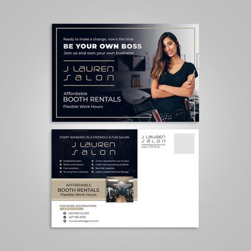 Postcard Design for a Salon Group