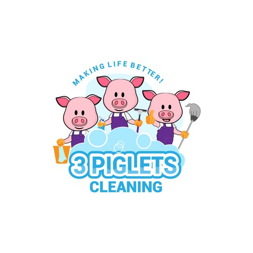 Bold concept for cleaning company
