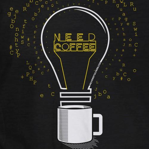 Code & Caffeine T-Shirt Design (Programmers Shirt)