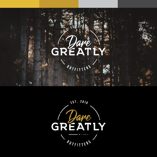 Strong logo idea for Dare Greatly Outfitters