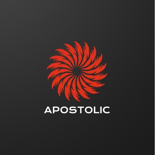 Fiery logo concept for a modern church