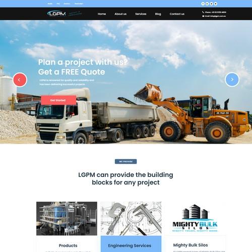 Industrial Web Page  Design