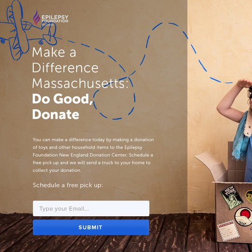 Toy Donation Landing Page