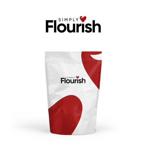 logo concept for simply flourish