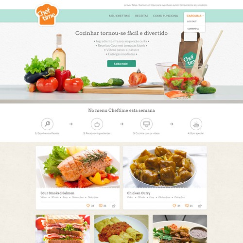 Design the CHEFTIME Website