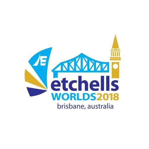 Etches Worlds 2018 Logo Design