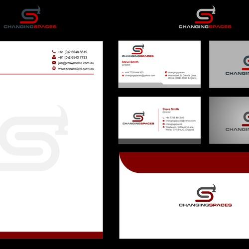 Create an architectural graphic design for a contempory contruction company