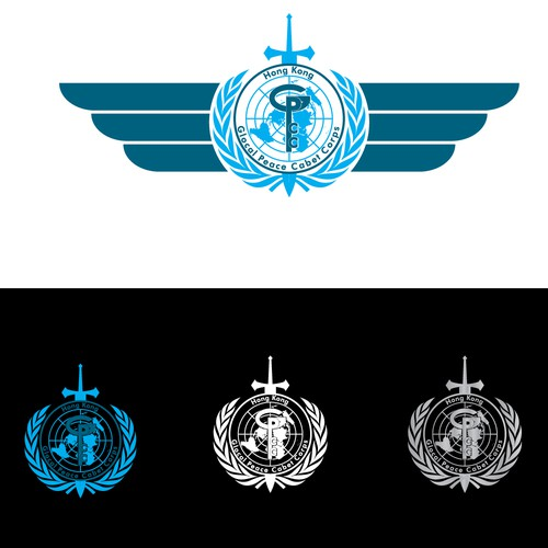 Glocal peace codet corps logo for UNESCO Hong Kong
