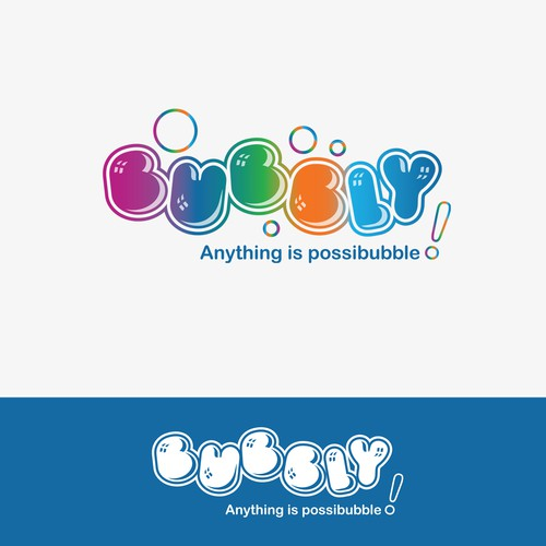 logo concept for Bubly