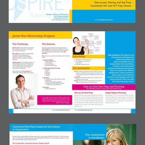 Create the next brochure design for Mindspire Tutoring and Test Prep