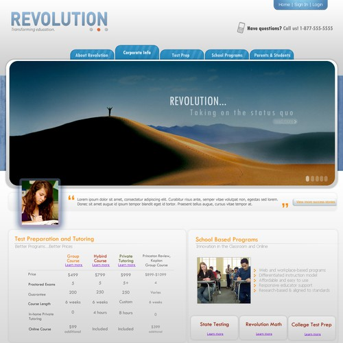 Web Site Redesign_Hip/Modern/Advanced Education Company